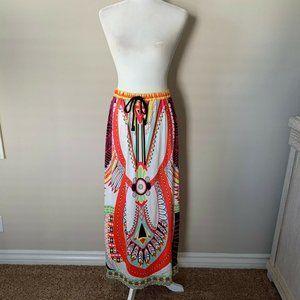 NWT! Choies Tribal Print Neon Maxi Skirt